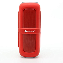NEW Rixing Wireles Bluetooth Double Stereo Speaker FM Radio TF USB FM -Red