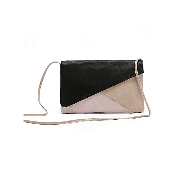 7bfea9a60ddf Xingbiaocao New Women Leather Envelope Shoulder Crossbody Messenger Bag  Clutch Bags -Black