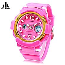 AK16122 Unisex Quartz Digital Watch LED Alarm Stopwatch Sport Watch-Pink-Pink