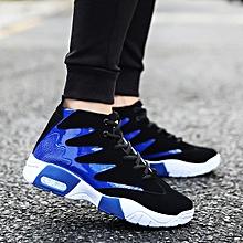 Men's shoes tide black and white color trend sports shoes men's casual shoes-blue