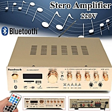 220V 50W 5 Channel USB Stero Amplifier Support FM Radio Play Bluetooth Function With Card