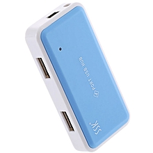Mini USB 2.0 HUB 4 Ports Laptop Converter Adapter - Blue