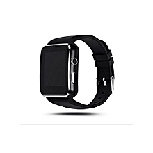 X6 Smartwatch with Bluetooth,sim card slot and memory card slot- Black