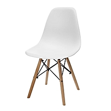 Eiffel Dining Chair  Retro Vintage Style Lounge Dining Room - ABS Plastic Wood White