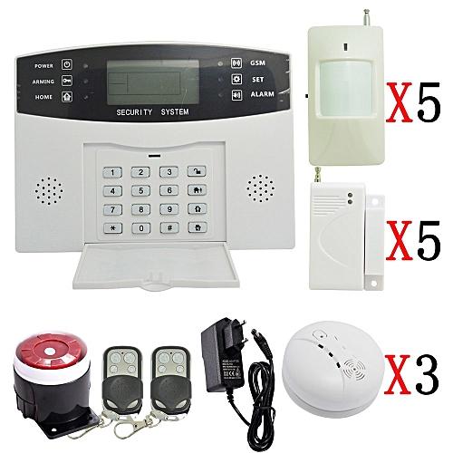 1 Set Home Security Alarm System 433mhz Wireless Pir Motion Sensor Door Contact Lcd Panel Gsm Indoor Siren Shield