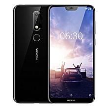 Nokia X6 5.8-inch (6GB, 64GB ROM) Android 8.1, 16MP+16MP, 3060mAh, Dual Sim 4G LTE Smartphone - Black