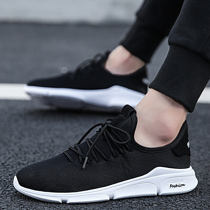 Tauntte Mesh Sneakers Men Athletic Running Shoes Casual Shoes Black