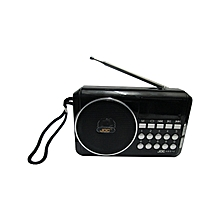 Rechargable Digital Selects Music Player/Fm Radio with usb and memory slot - Black
