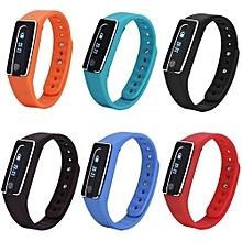 Bluetooth Sport Smart Wristband Pedometer Bracelet Heart Rate Monitor Watch Blue
