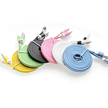 Micro USB Cable Data Sync Charger Cord Fabric For Android Phone 1M-Random