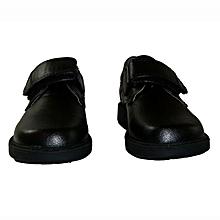 boys black school shoes