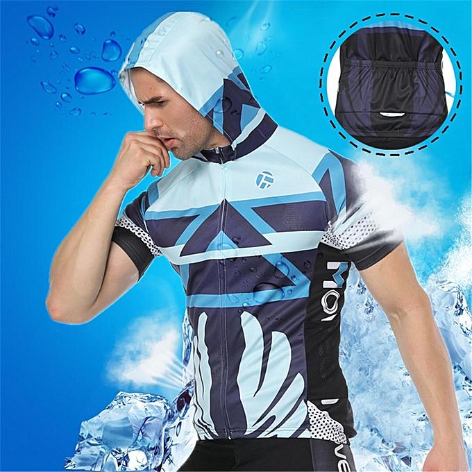 Men s Cycling Clothing MTB Bike Short Sleeve Bicycle Jersey Racing Clothing  Sports Wear Light Blue 60844aafa