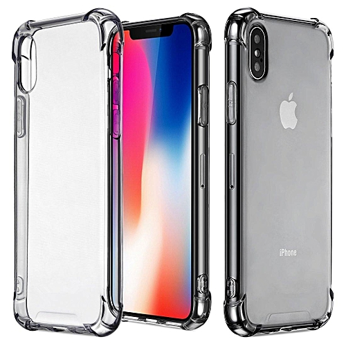 huge discount 060be fd61f iPhone X Case, iPhone Xs Case, Clear Shockproof Bumper Cover Transparent  Silicon TPU Casing BQQQ-Q