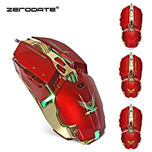 ZERODATE X800 Wired Gaming Mouse with LED Light 3200DPI Adjustable Weight