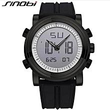 SINOBI 9368 Digital Watches For Lovers' 2 Movements Men Watch Unisex Sports Wristwatch Women's Watches Alarm Clock Montre Homme BDZ