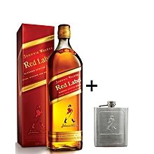 Red Label + Hip flask - 1Ltr