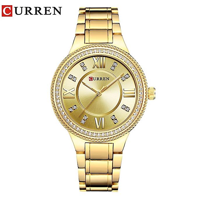 7e9938653 Brand Luxury Women's Casual Watches Waterproof Wristwatch Women Dress  Rhinestone Stainless Steel