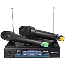 WEISRE WM - 03V Professional 210 - 280MHz Karaoke Wireless Handheld VHF Transmitter Microphone Set-BLACK