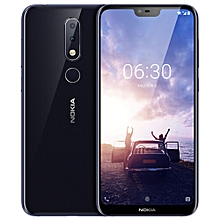 """Nokia X6 4G 5.8"""" 4GB RAM 64GB ROM Android 8.1 Face ID - Blue"""