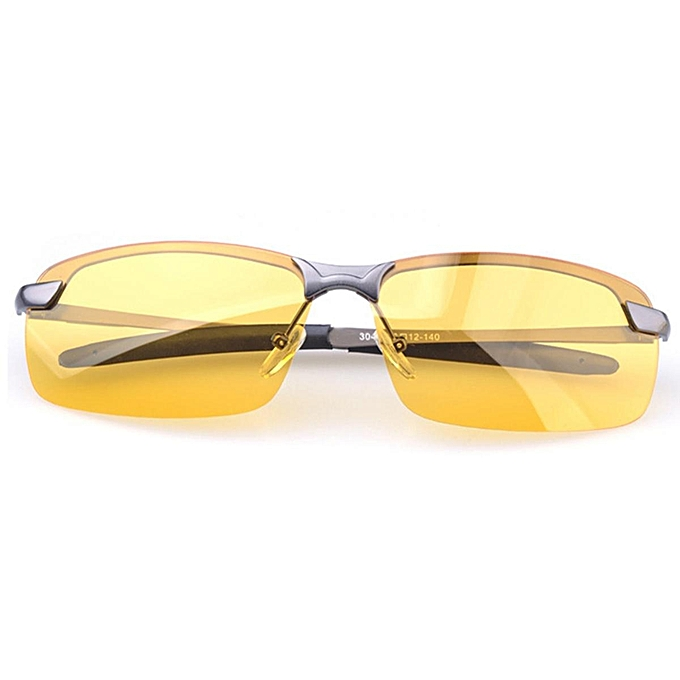 debdfc16bd Anti-Glare TAC Men Driving Yellow Lens Sunglasses Night Vision Polarized  Glasses  Gray