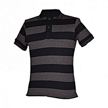 Brown Stripped Men's Polo Shirts