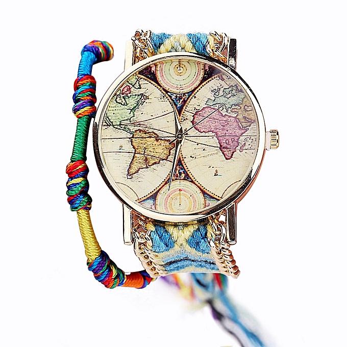 Generic Generic Vansvar Handmade Ladies Vintage Quartz Watch World