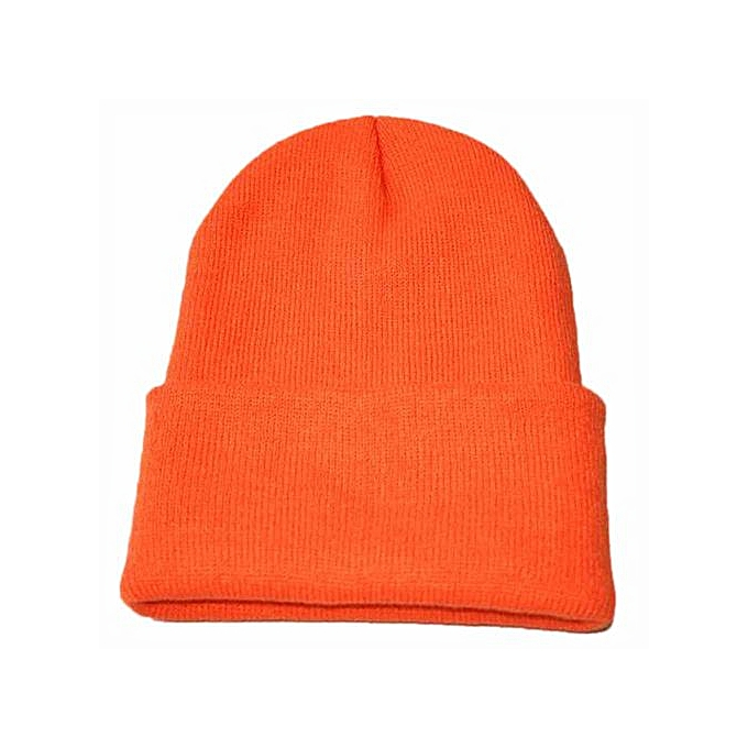 cc20c40dcbe Zetenis Unisex Slouchy Knitting Beanie Hip Hop Cap Warm Winter Ski Hat -  Orange