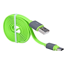 bluerdream-USB 3.1 Type C Noodle Data Charging Cable For Oneplus 3 Three-Green