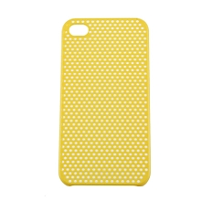 CO Net Style Hard back case skin cover shell for Apple iPhone 4 G 4S-Yellow