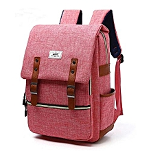 Laptop Backpack Fashion Leisure Travel Bag For Women - Pink
