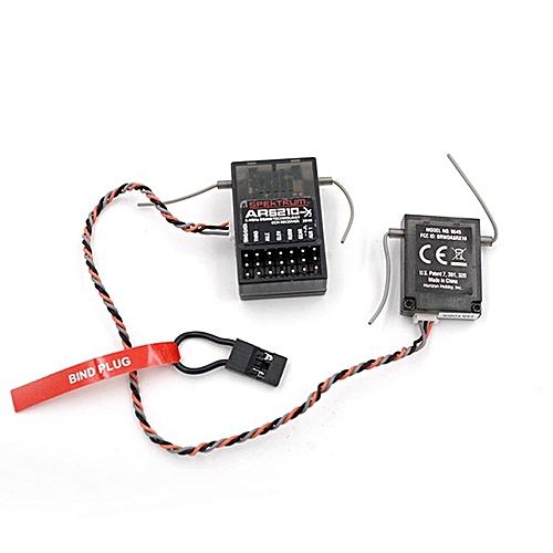 AR6210 2 4G6-Channel Receiver PEKTRUM JR DSMX/2 DX6I/9/18 Black