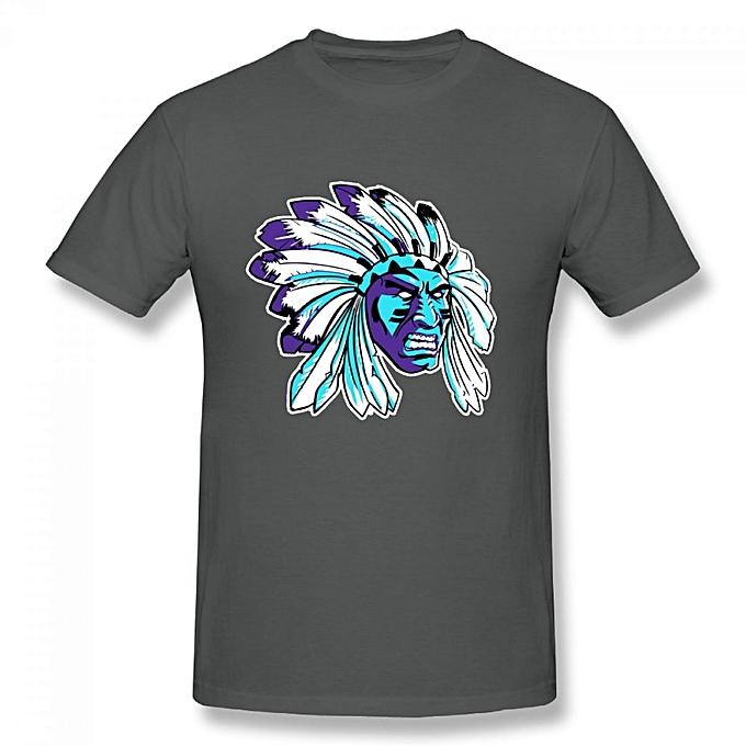 5326101e9e4b94 Generic Jordan 5 Black Grape Apache Men s Cotton Short Sleeve Print T-shirt  Grey