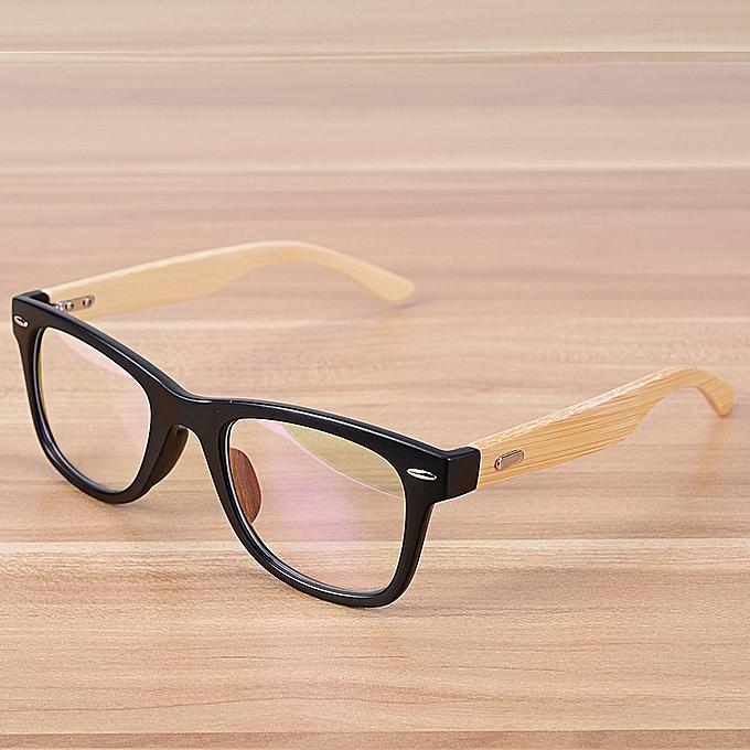 9ccc8eaecd Fashion Korean Fashion Glasses Bamboo Eyewear Frames for Men Women ...
