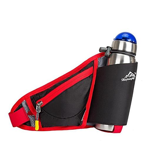 980ce3476d Generic Women Waist Bags Sports Water Bottle Holder Outdoor Running Belt Bag  Waist Bag Backpack Key Stuff Waist Pack Hiking Pockets Bag(Black)