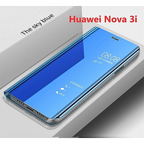 sports shoes da490 e691c For Huawei Nova 3i/Nova 3e Cover Smart Plating Mirror Flip Case Clear View  Housing Shell