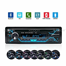 1 DIN Car Stereo Radio Audio MP3 Player USB FM AUX IN Bluetooth Music 4x60W
