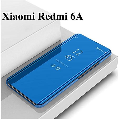 timeless design 1858c b16e2 For Redmi 6A/Redmi Note 5 /Mi A1/A2/Mix2 Smart Mirror Flip Cover Stand Flip  Case Suit (Redmi 6A-blue)