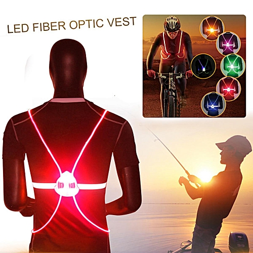 Generic Flashing Motorcycle LED Light Up Safety Reflective Vest Running  Cycling Jacket Red   Best Price  f893b08cc