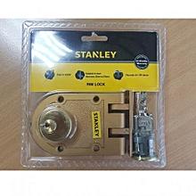 HPL Cylinder Rim Lock ZA DB 3br Key - Bronze