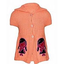 Orange Neat Girl Sweater Top