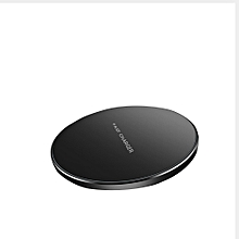 QI Round Wireless Power Charger Pad With Indicator for Mobile Phone Black