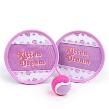 Stick Nest Disc Round Outdoor Target Throwing Ball Game Kids Novelties Toys-Pink