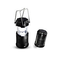 Camping lantern with Solar Charging and Mobile Charger - Black