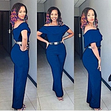 Hot Style Women Ladies Clubwear Summer Playsuit Bodycon Party Jumpsuit Romper Trousers-blue
