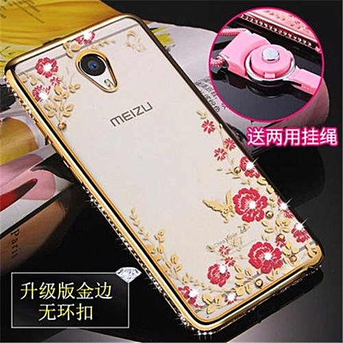 Luxury Rhinestone Phone Case Cover Holder Stand For Meizu Meilan Note2/For Meizu M2 Note