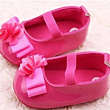 8a05f1c2a43b9 Infant Kids Girls Flowers Bow Soft Sole Baby Shoes Toddler Shoes HOT 11-Red