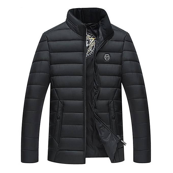 4c67aa93f59 Fashion Mens Winter Warm Zip Padded Bubble Puffer Jacket Down Coat ...
