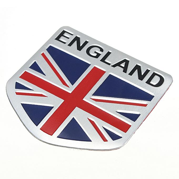 Buy Generic Car Aluminum 3d Gb England Uk Flag Shield Emblem Badge