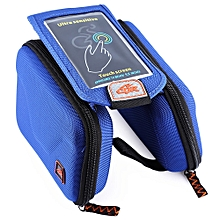 CBR B2 - 2 EVA Outdoor Portable Front Beam Bag Touch Screen Pouch for Bicycle Bike Cycling Blue