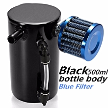 0.5L 12mm Barb Oil Catch Tank Can Reservoir Breather Filter Alloy Racing Engine